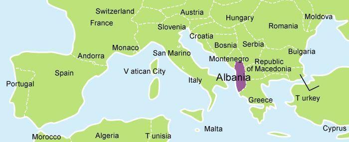 albania words