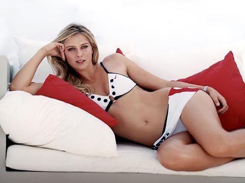 Maria Sharapova dressing bikinis