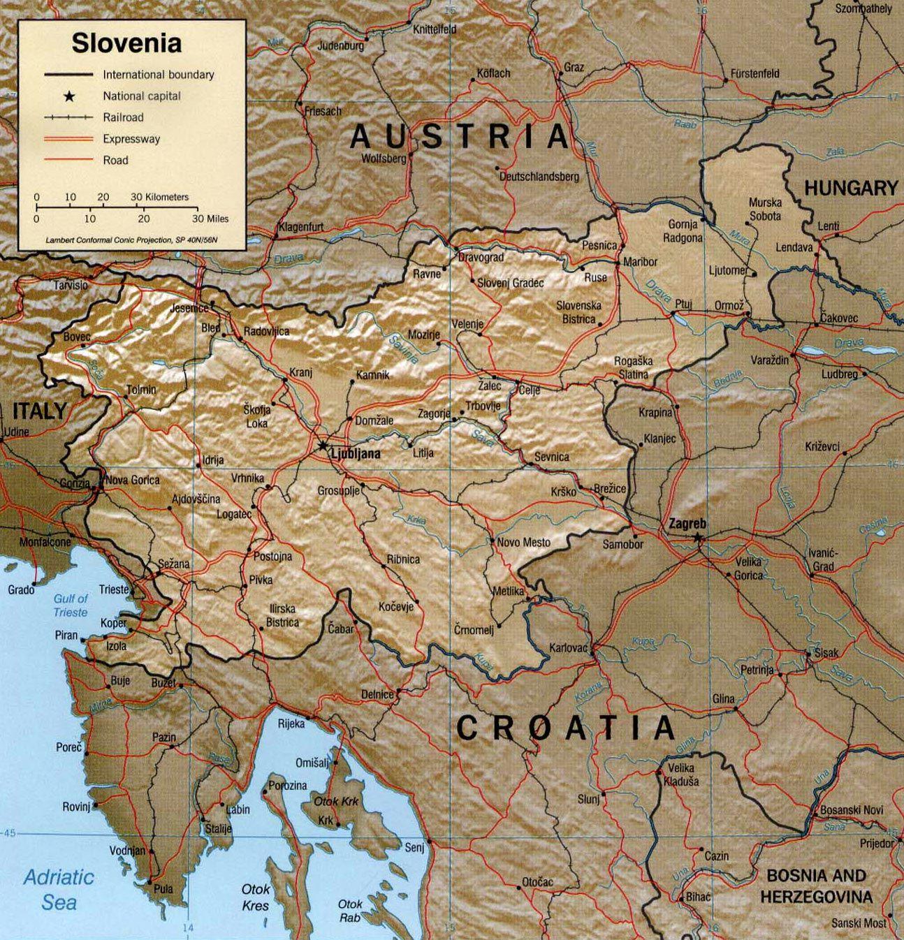 Slovenian Map Balkan Countries Travel Balkans - Slovenia map