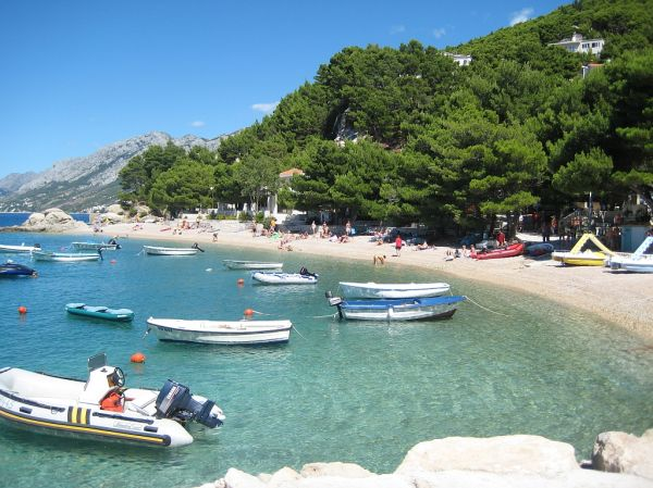 brela beach croatia
